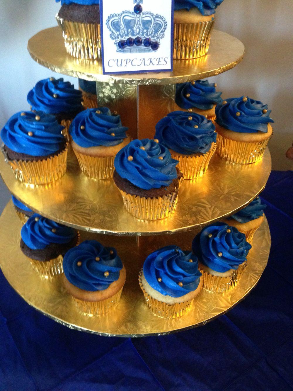 cupcake para casamento Azul Marinho