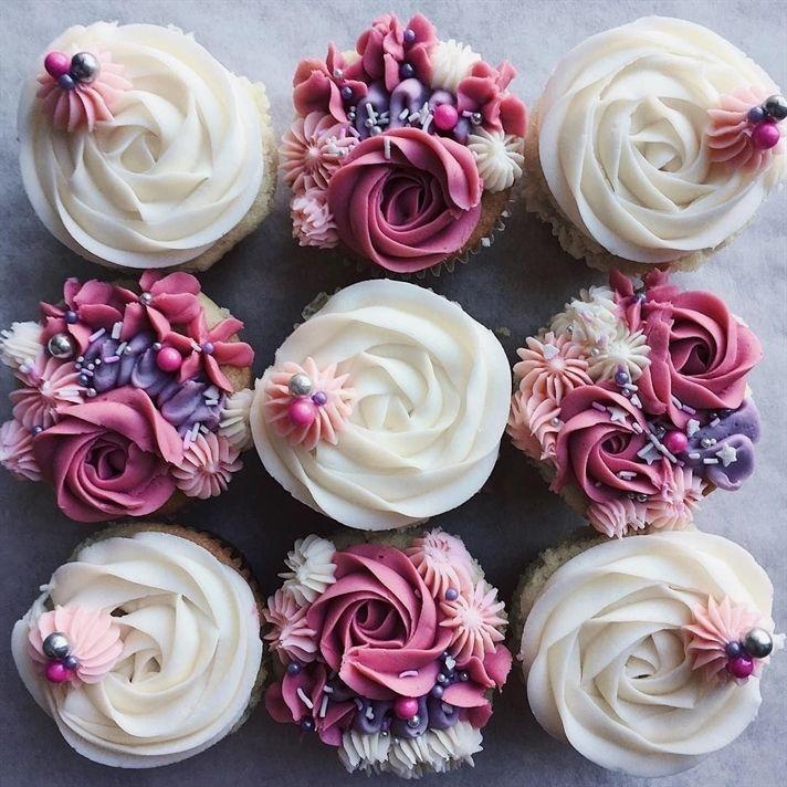 cupcake para casamento Com Chantilly