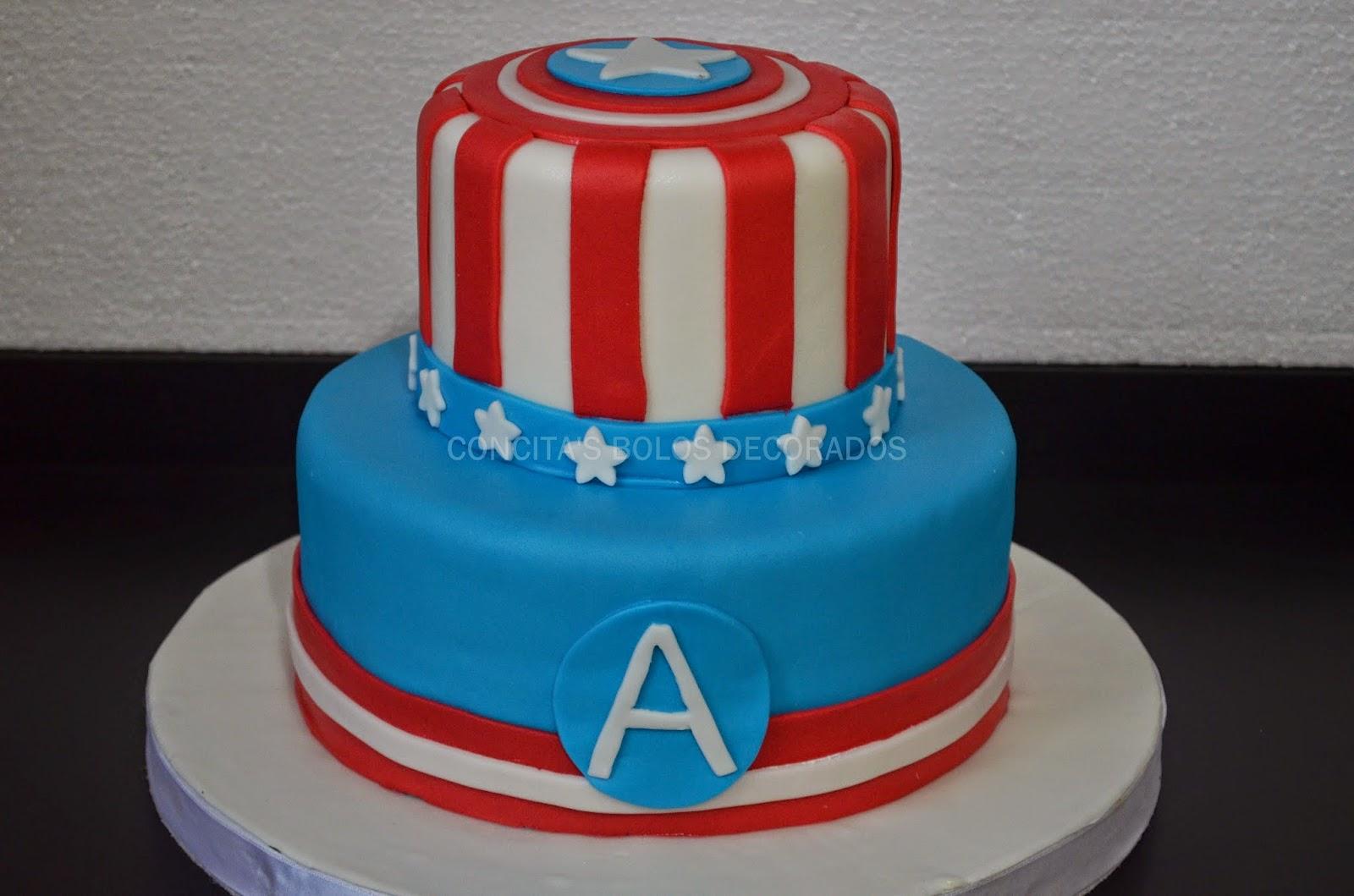 Bolo Capitão América 2 andares