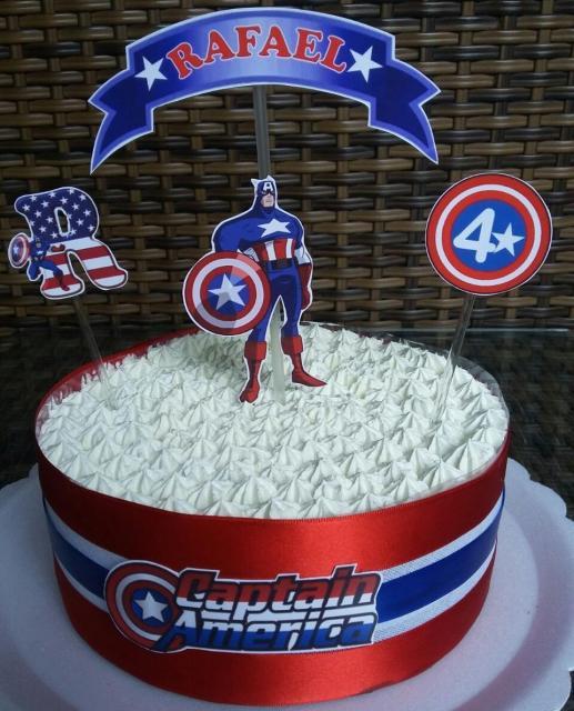 Bolo Capitão América Chantininho
