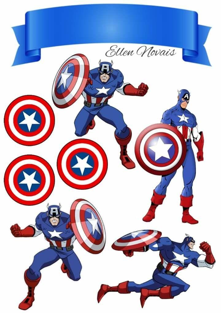 Bolo Capitão América Topo de bolo