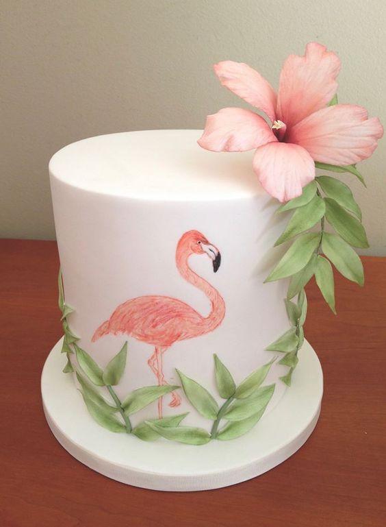 Bolo Tropical Flamingo
