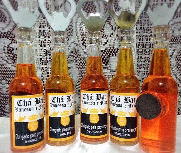 Lembrancinha Chá Bar Abridor de garrafa