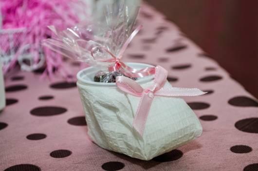 Lembrancinha Com Copo Descartável Chá de Bebê