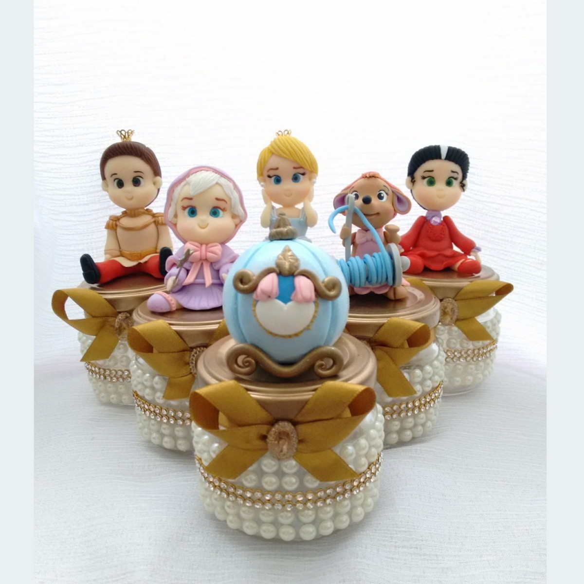 Lembrancinha Com Pote de Papinha Das Princesas