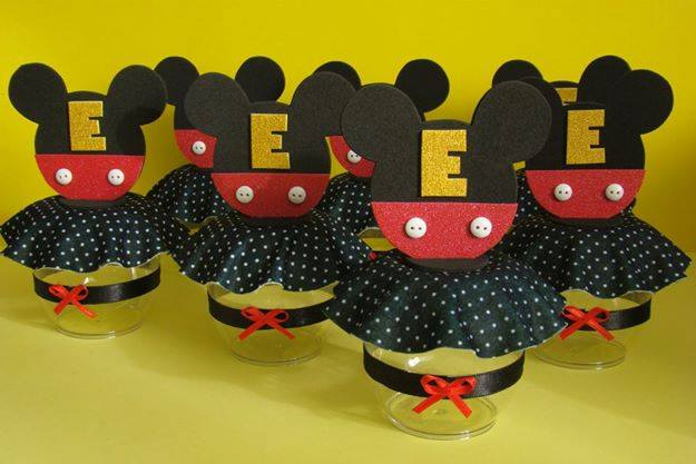 Lembrancinha Com Pote de Papinha Mickey