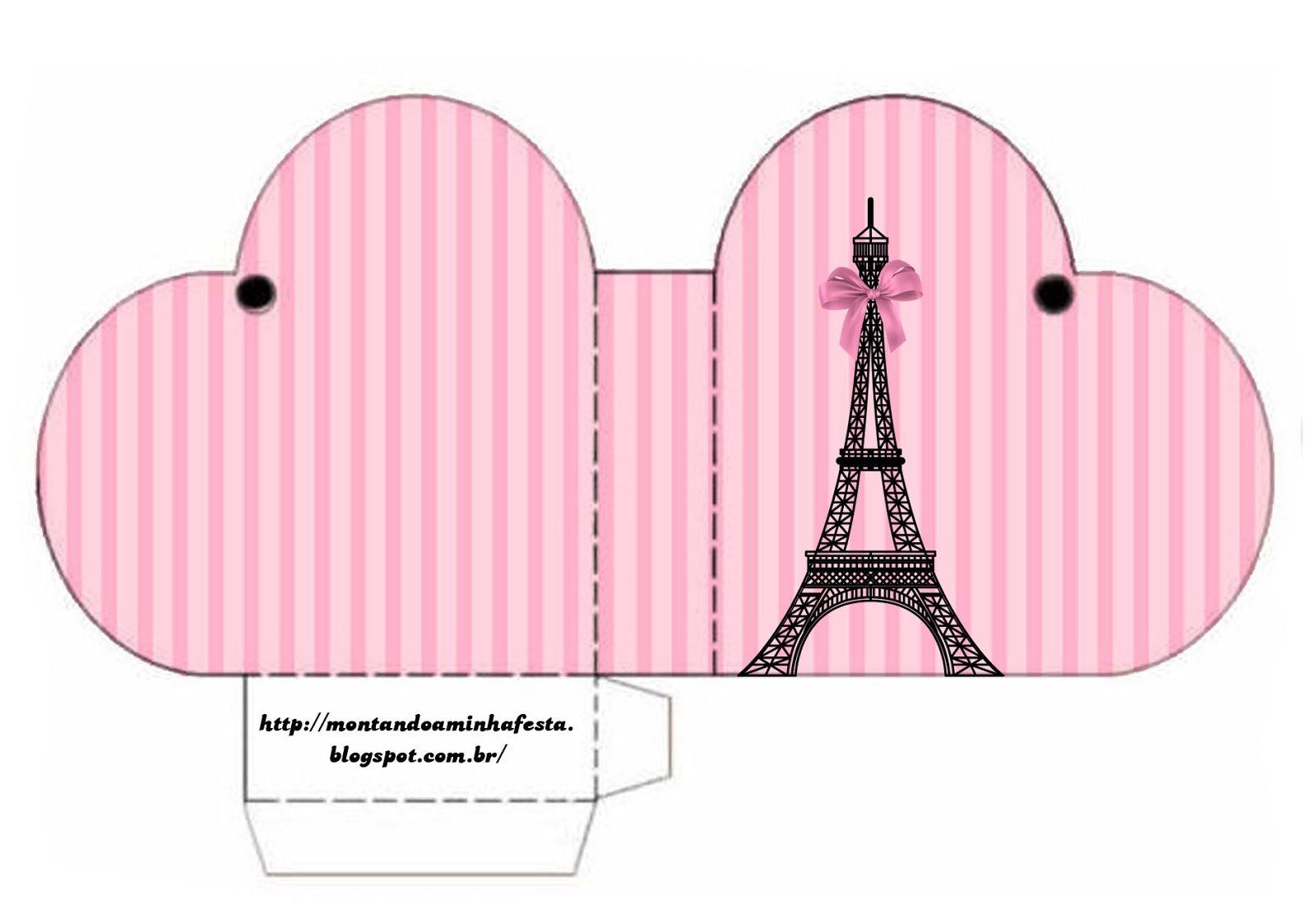 Lembrancinha Tema Paris Para Imprimir