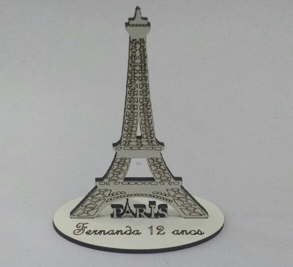 Lembrancinha Tema Paris Torre Eiffel