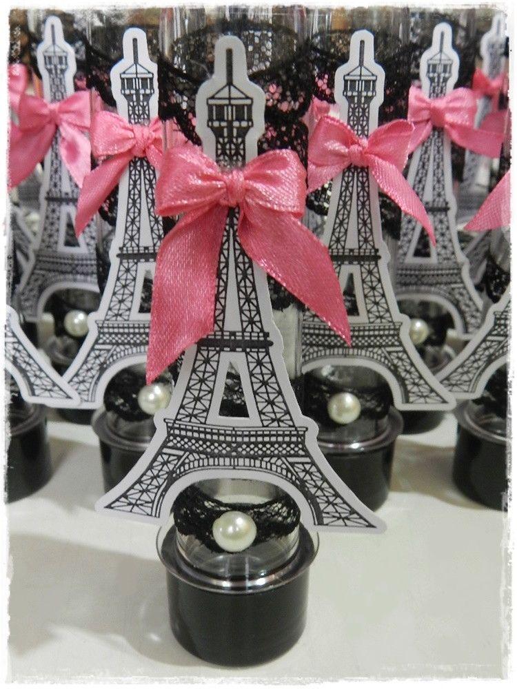 Lembrancinha Tema Paris Tubetes