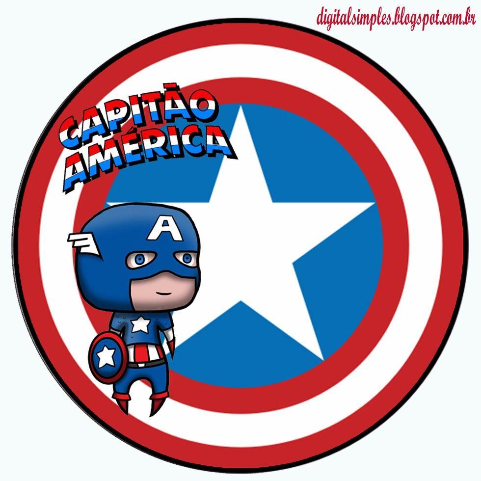 Adesivo Para Lembrancinha Capitão América