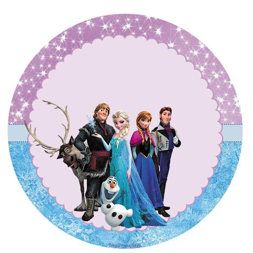 Adesivo Para Lembrancinha Frozen