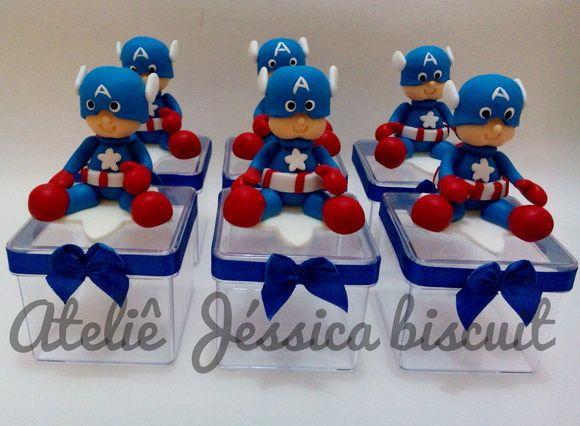 Lembrancinha Capitão América Biscuit