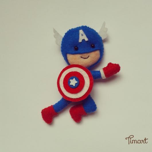 Lembrancinha Capitão América De Feltro