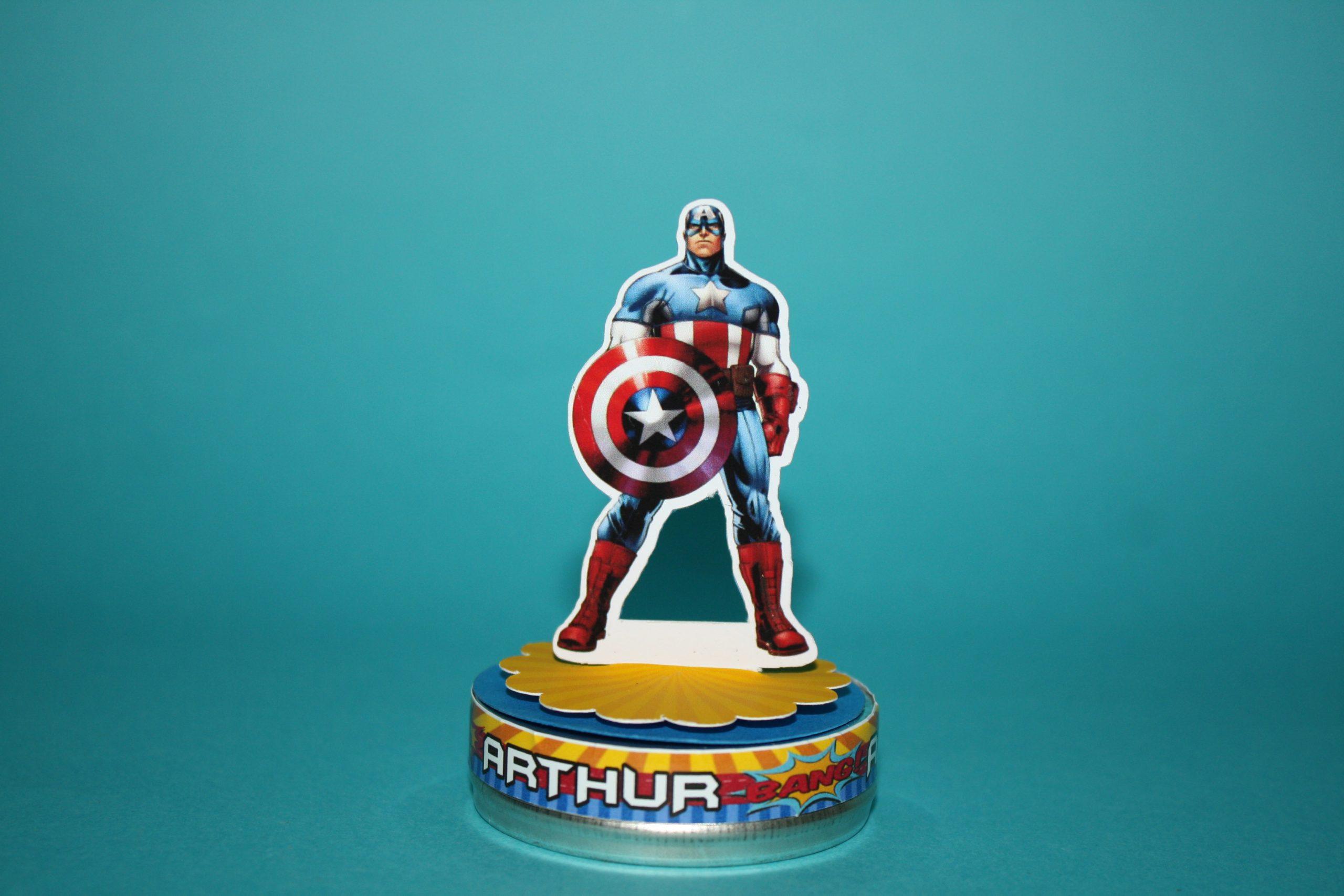 Lembrancinha Capitão América Latinha