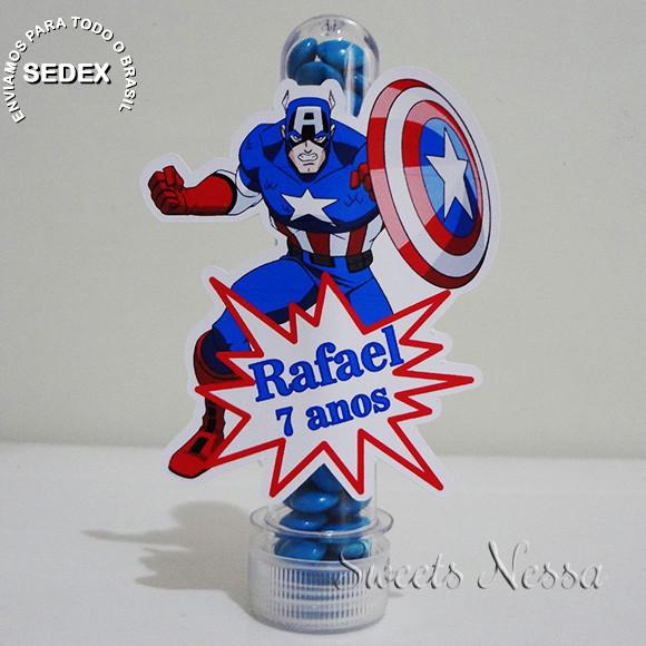 Lembrancinha Capitão América Tubetes