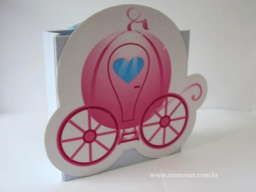 Lembrancinha Cinderela Carruagem