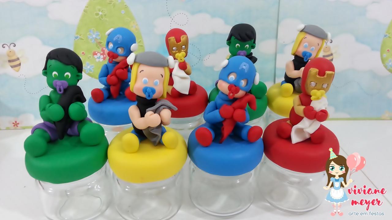 Lembrancinha Super-Heróis Baby