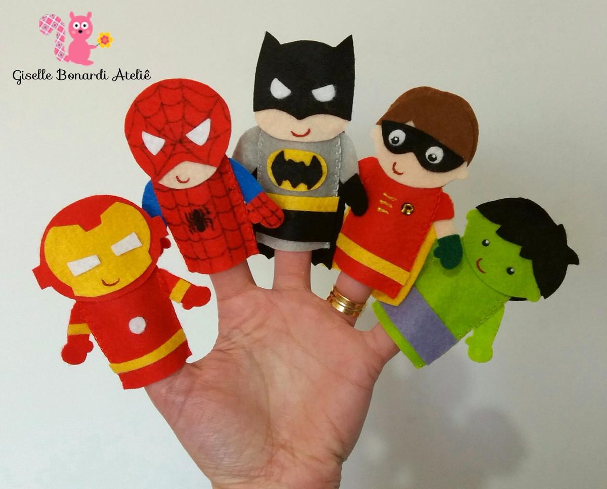 Lembrancinha Super-Heróis Feltro
