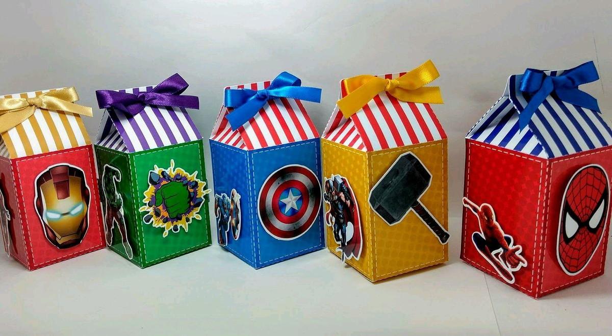 Lembrancinha Super-Heróis Infantil