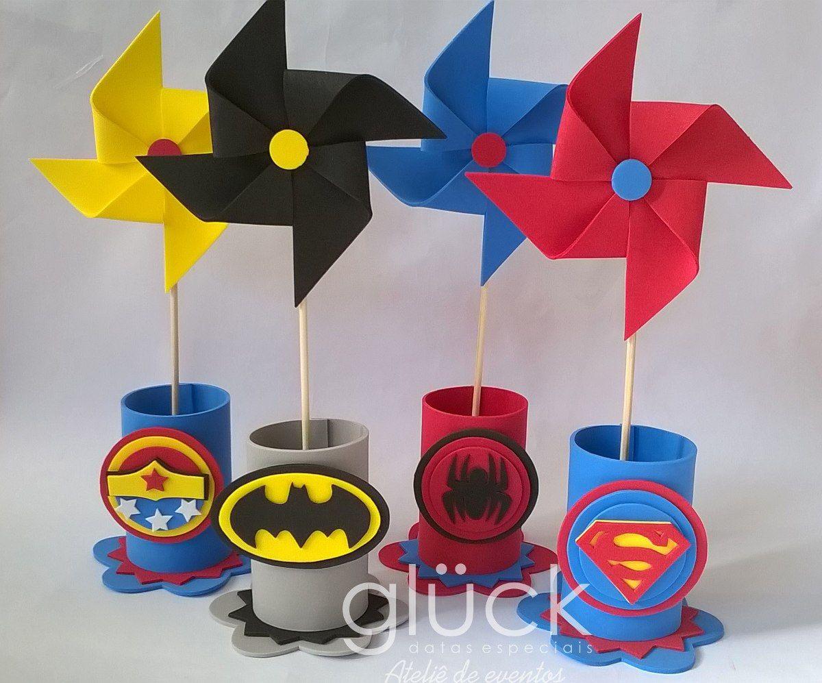 Lembrancinha Super-Heróis Mesa
