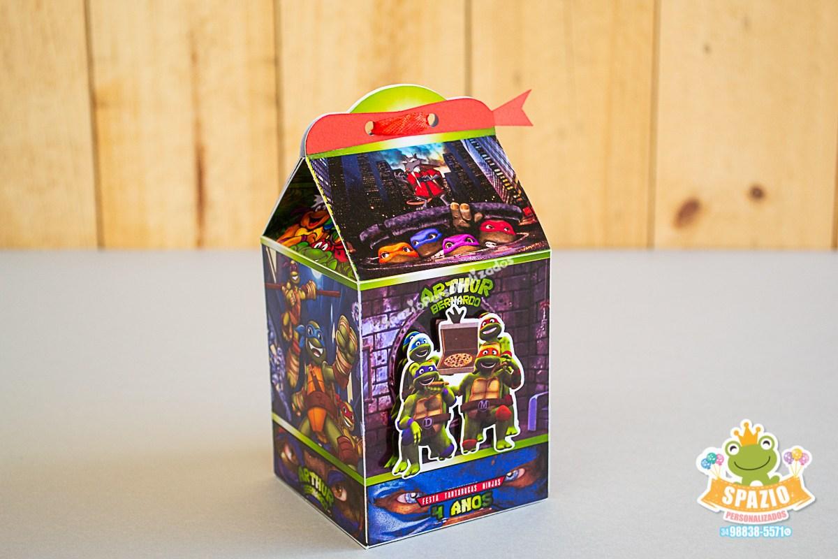 Lembrancinha Tartaruga Ninja Caixinha