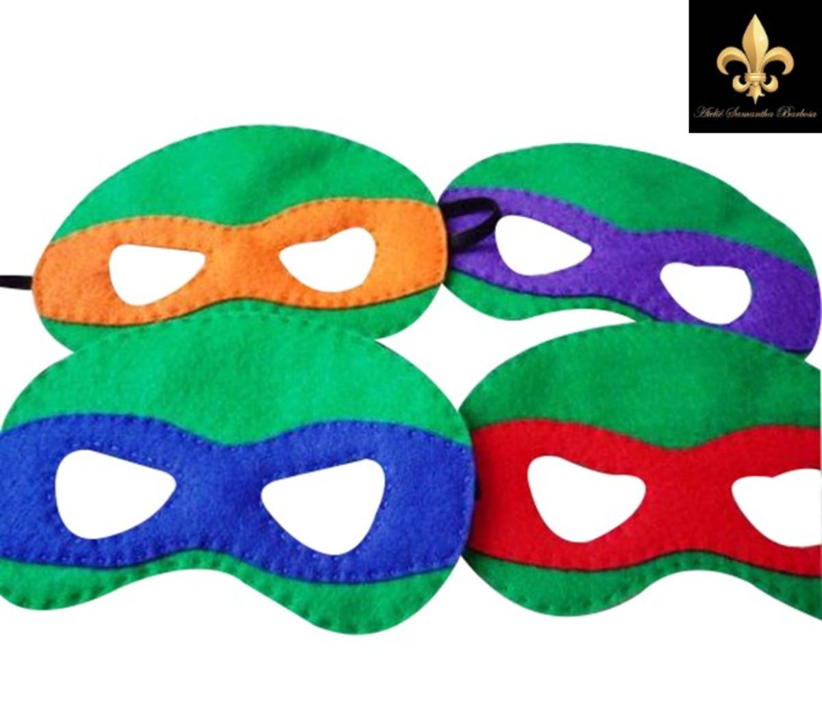 Lembrancinha Tartaruga Ninja Em Feltro