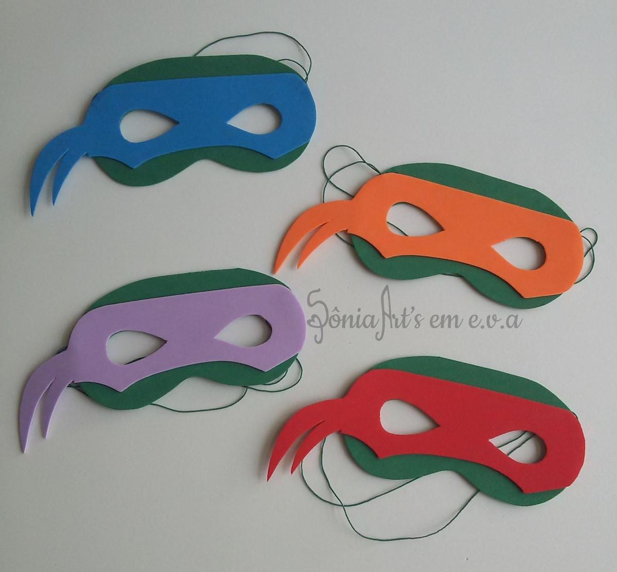 Lembrancinha Tartaruga Ninja E.V.A.
