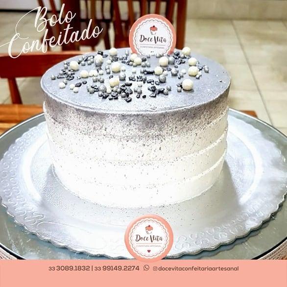 Bolo de bodas de prata Chantininho
