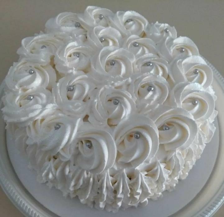 Bolo de bodas de prata Simples
