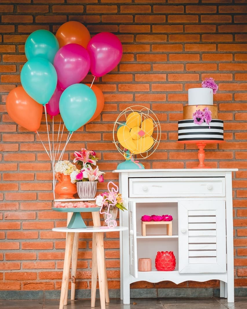 Festa de aniversário simples 25 anos