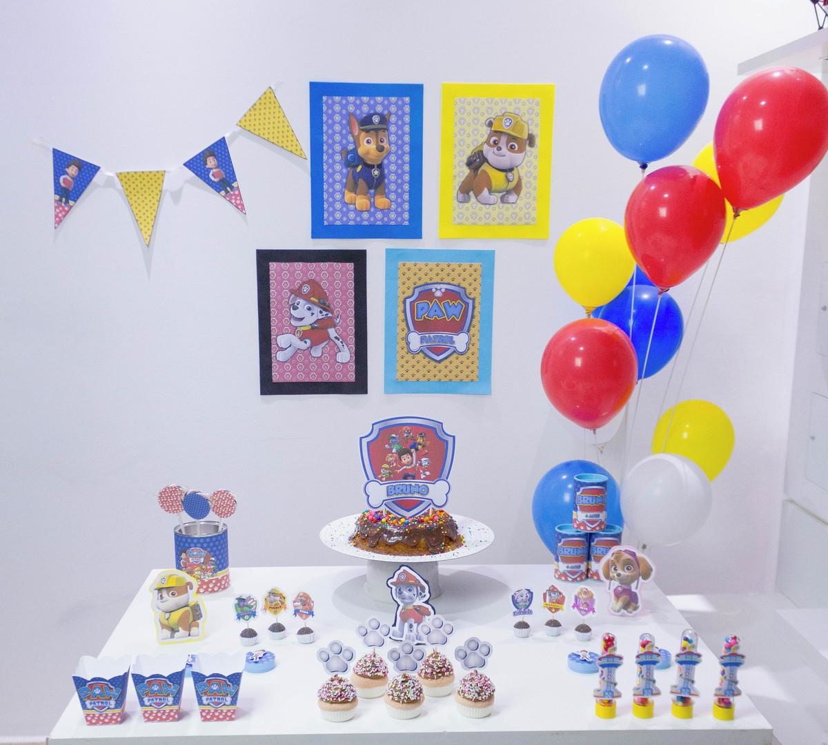 Festa de aniversário simples Patrulha Canina
