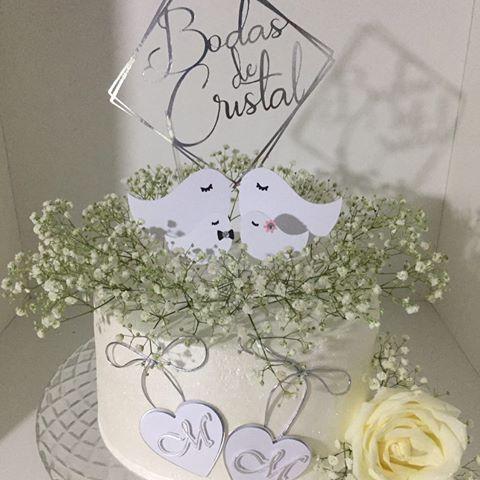 Bolo bodas de cristal Chantilly