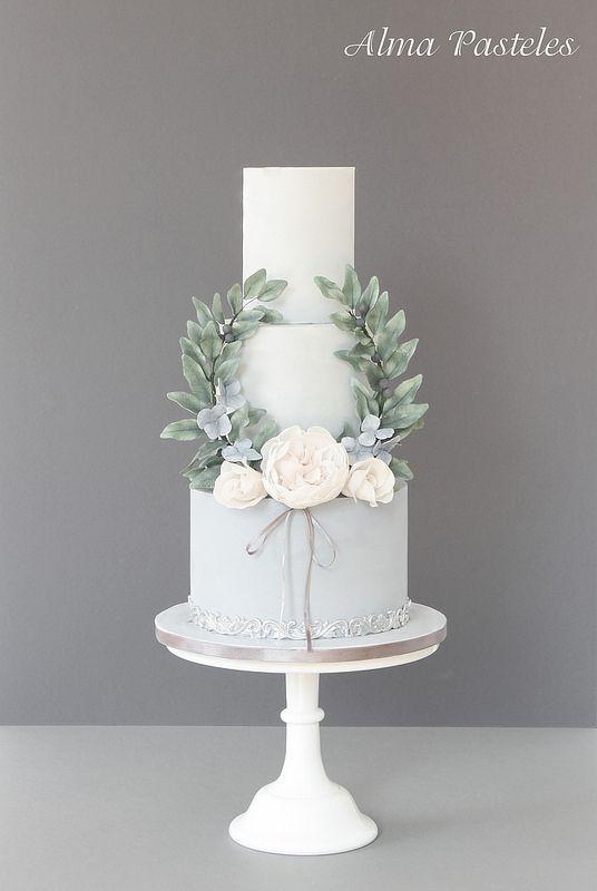 Bolo bodas de cristal Pasta americana