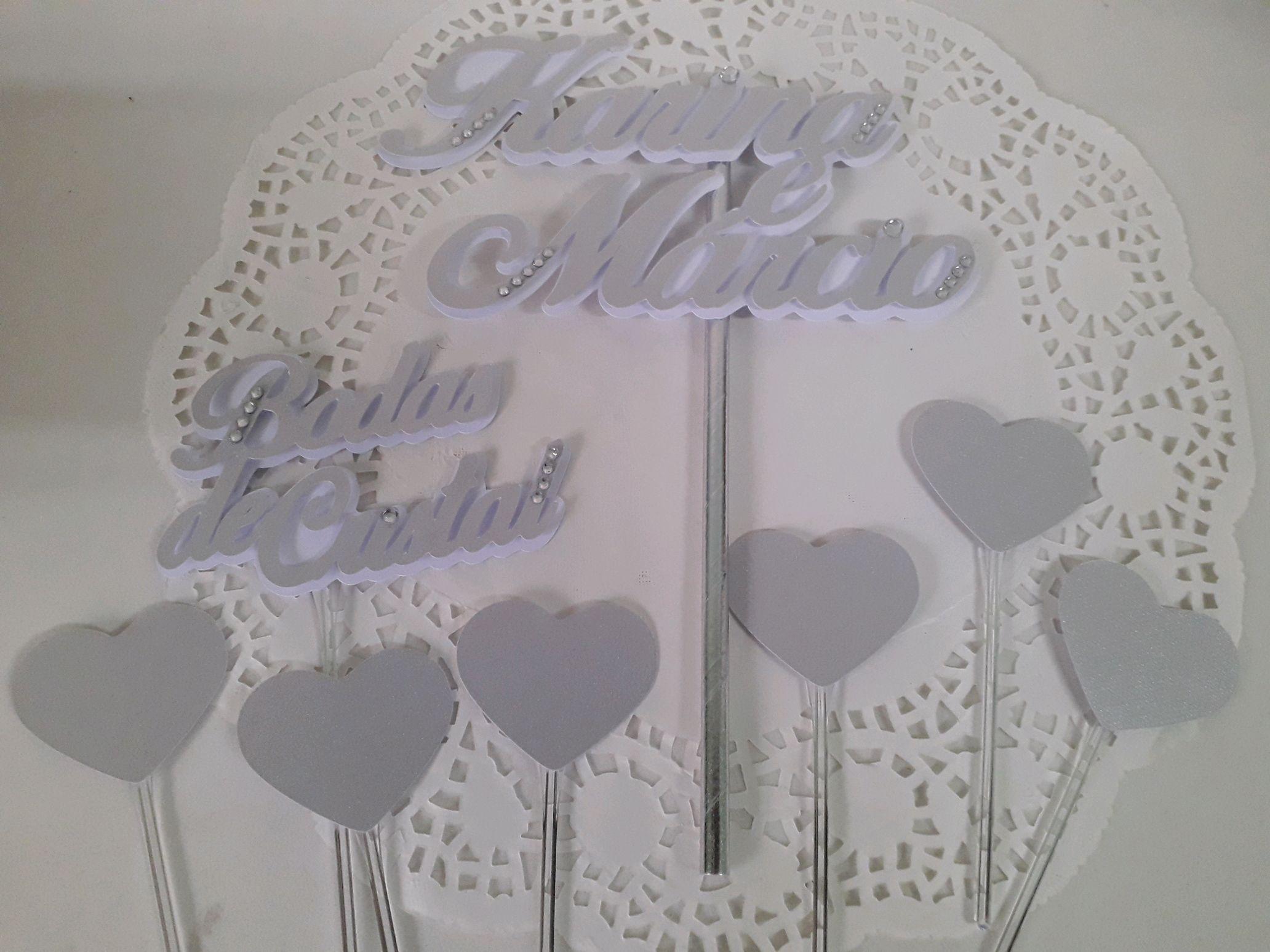 Bolo bodas de cristal Topo de bolo