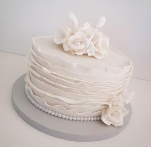 Bolo de bodas de algodão Pasta americana