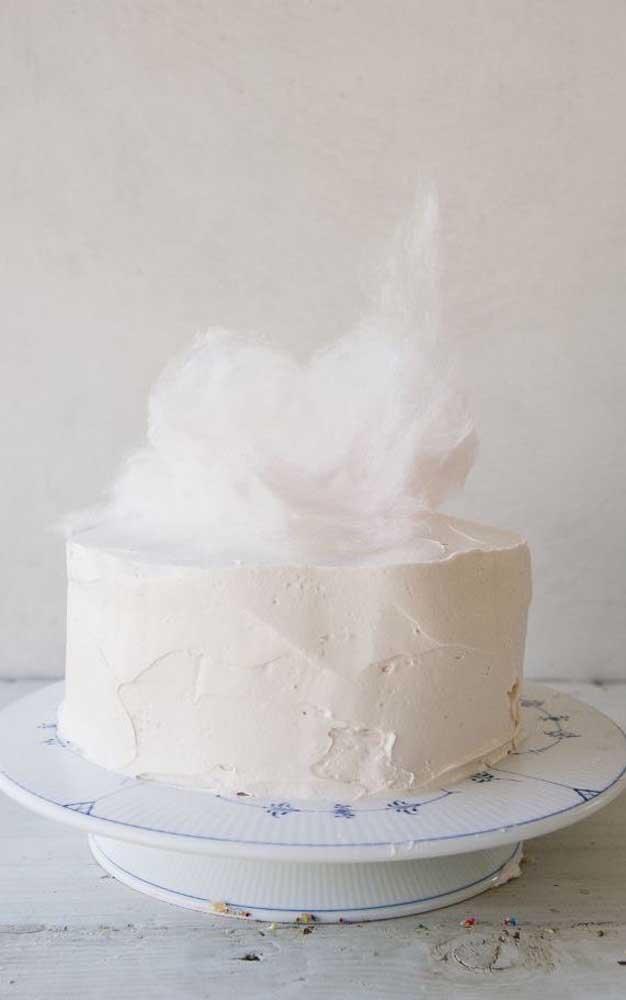Bolo de bodas de algodão Simples