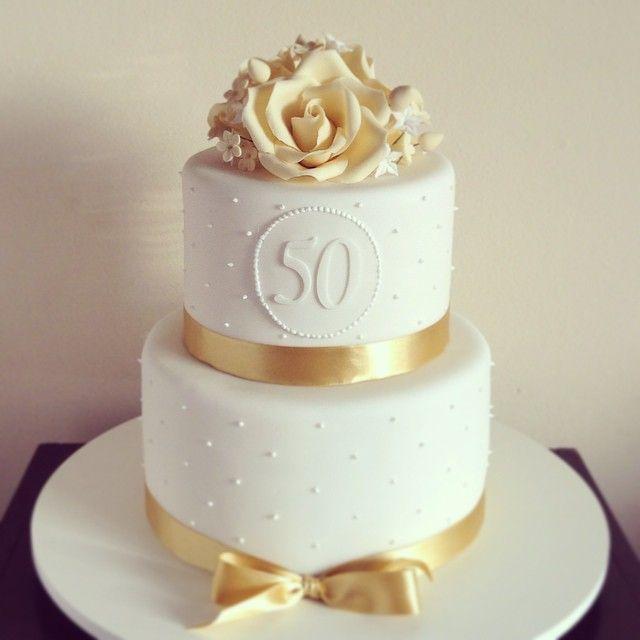 Bolo de bodas de ouro Pasta americana