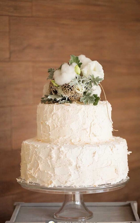 Bolo de bodas de ouro Simples