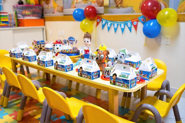 Festa na escola Patrulha Canina