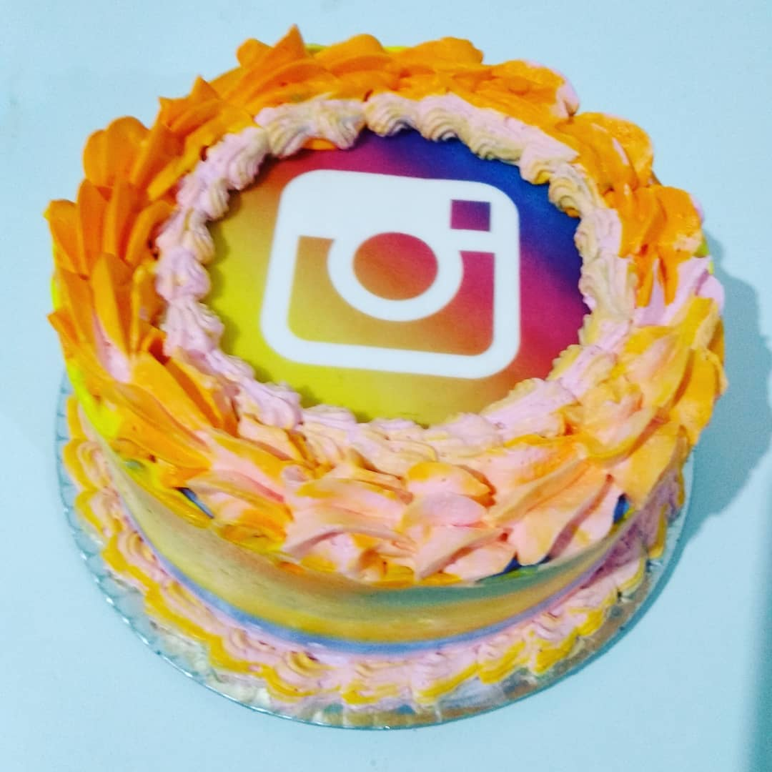 Bolo instagram: Chantilly