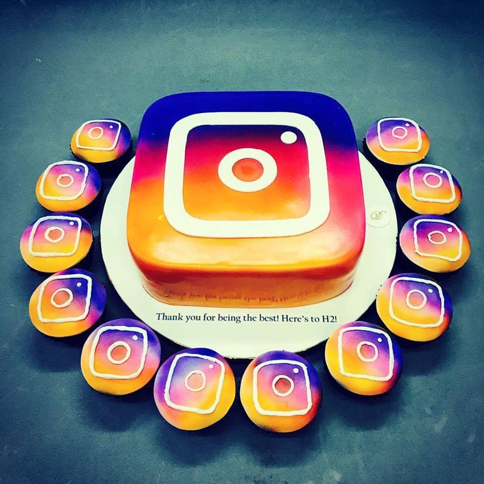 Bolo instagram: Decorado