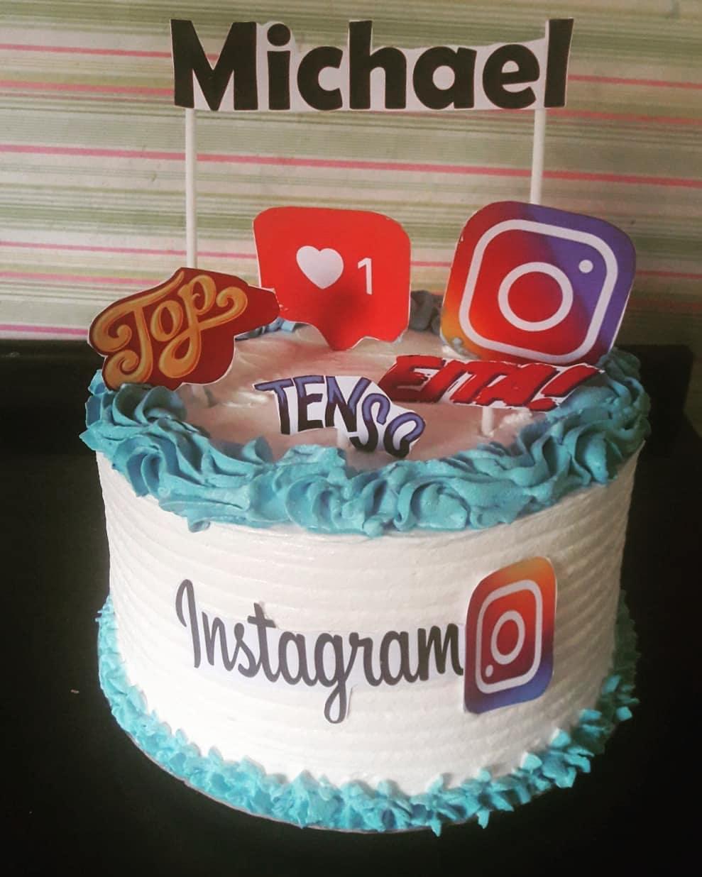 Bolo instagram: Masculino