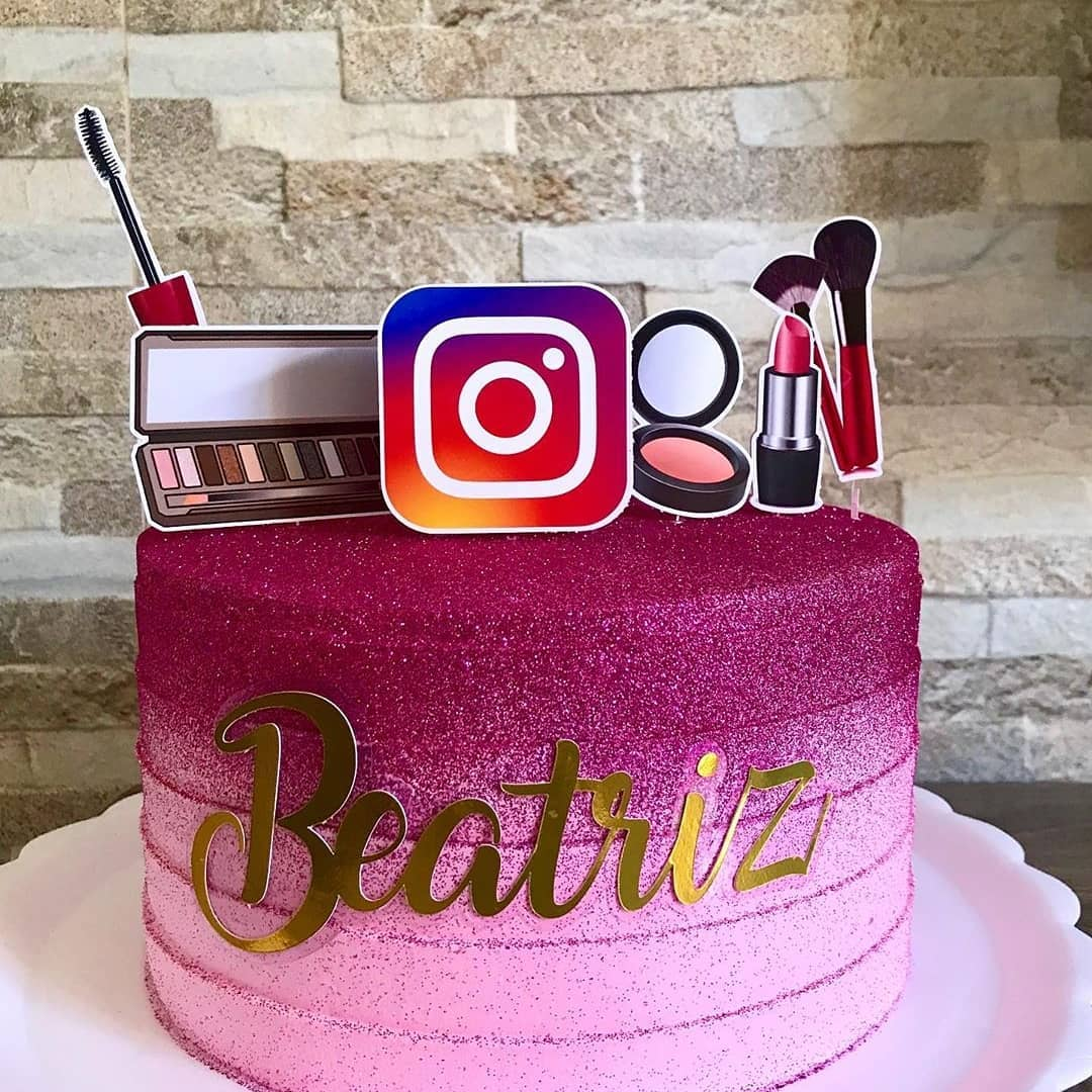 Bolo instagram: Tema