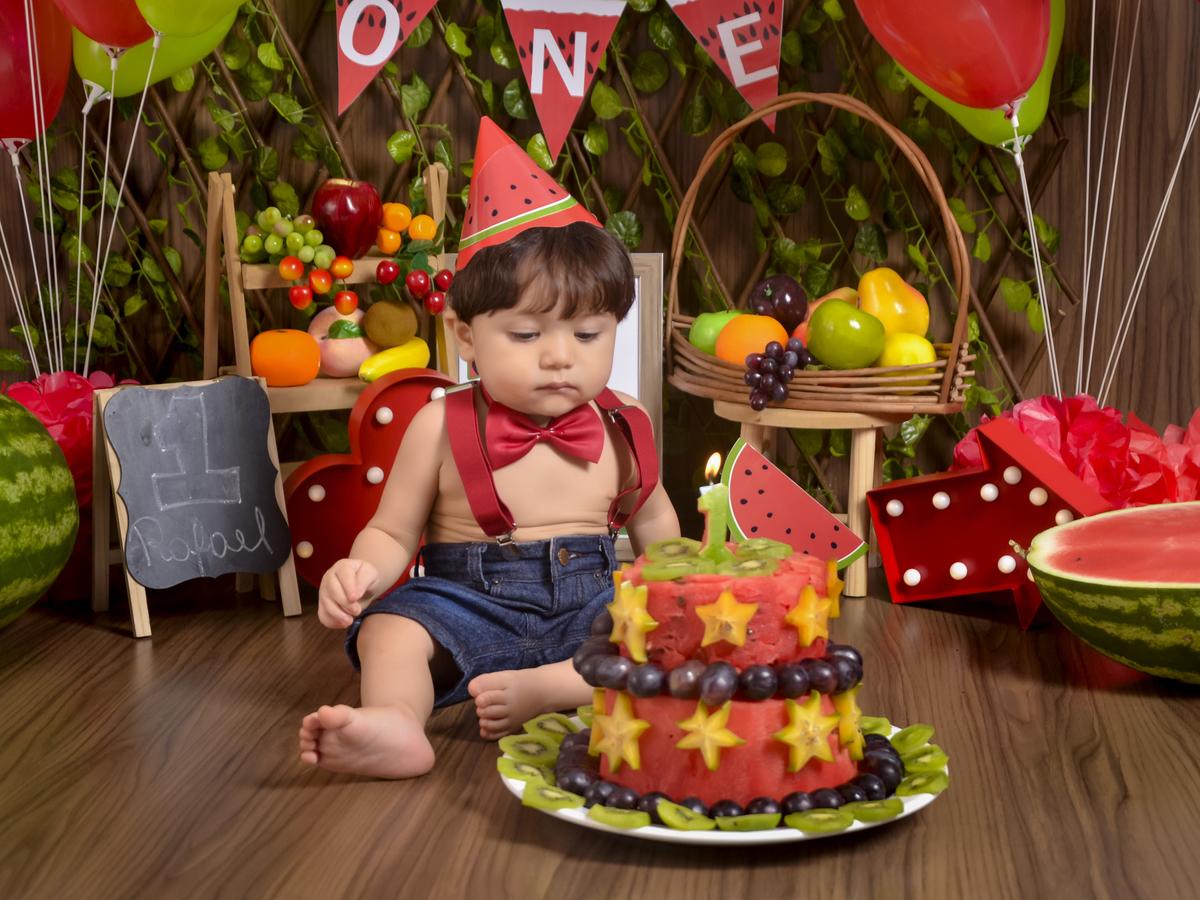 bolo de melancia Para bebê