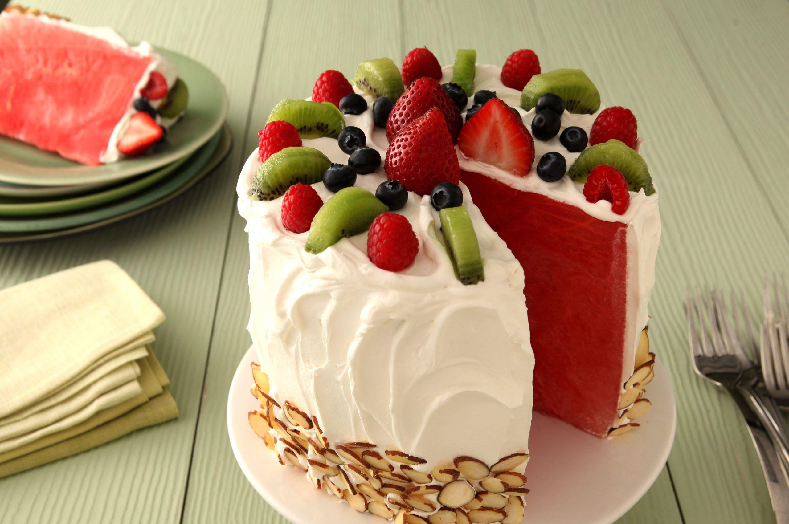 bolo de melancia Passo a passo de como fazer