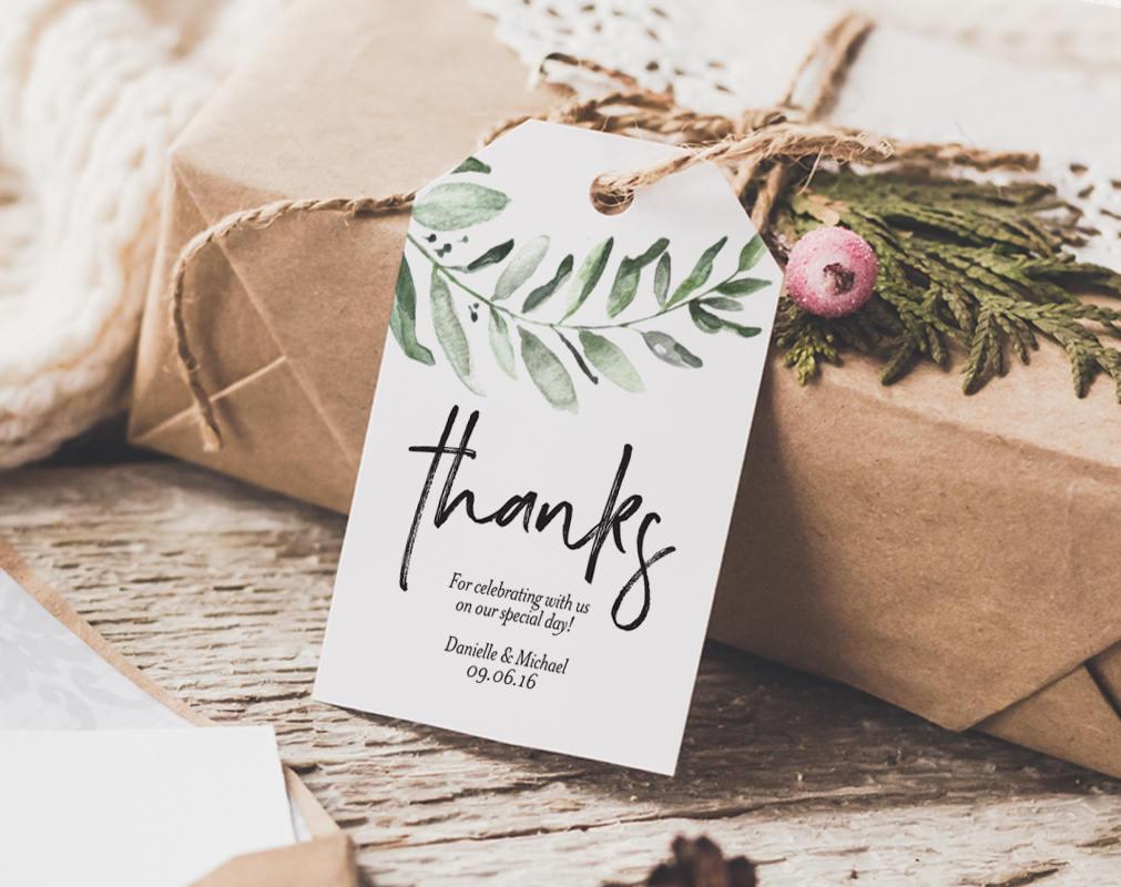 Tag de Agradecimento Para editar