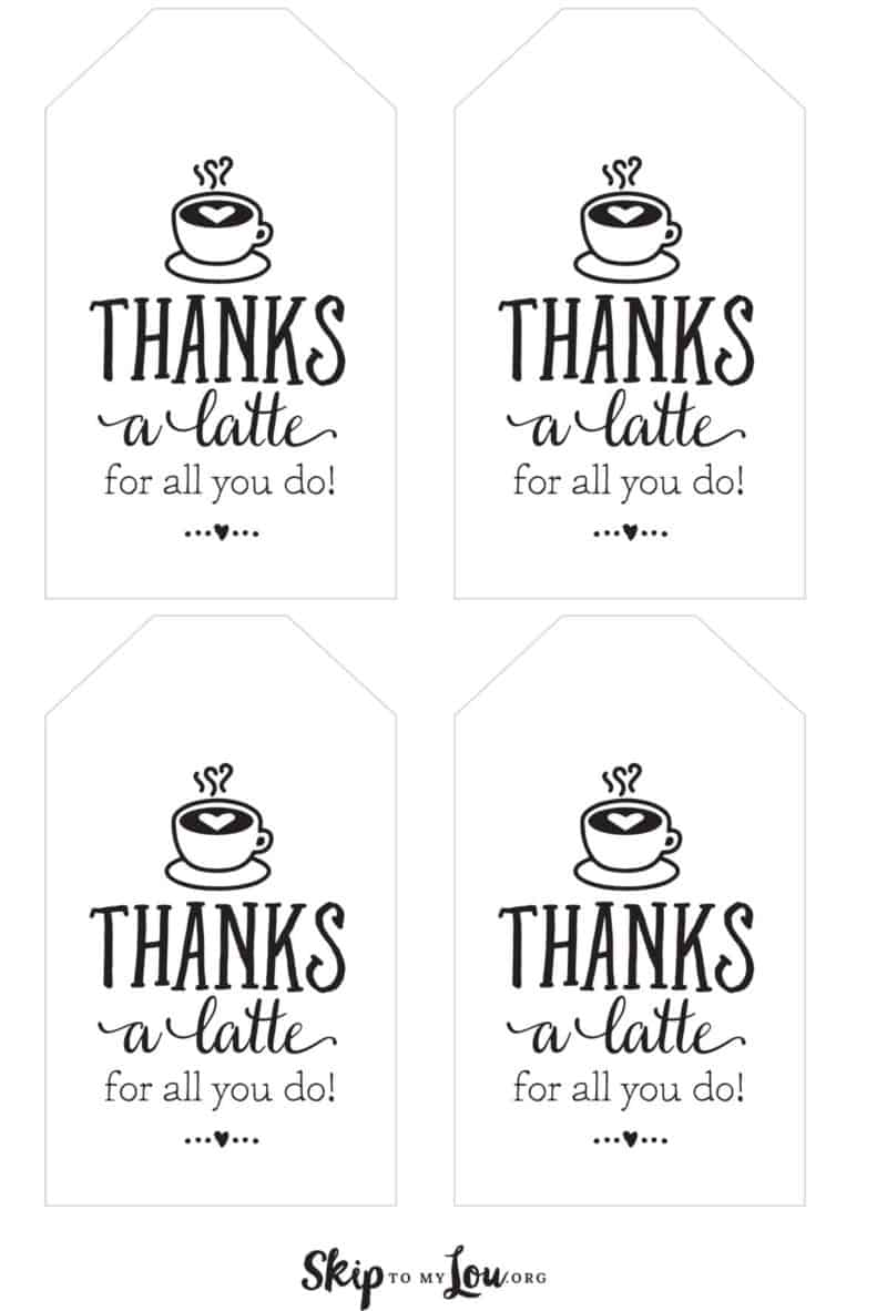 Tag de Agradecimento Para imprimir