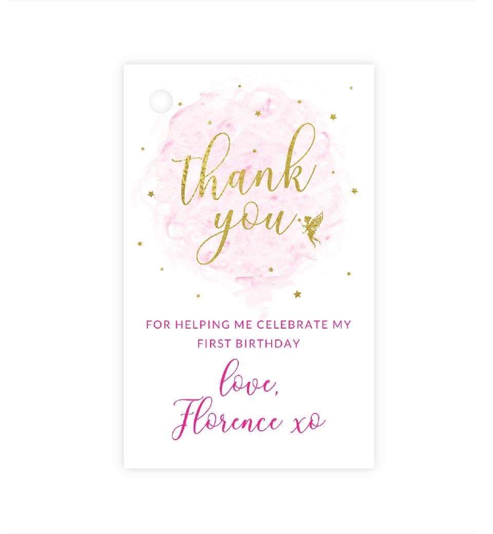 Tag de Agradecimento Aniversário