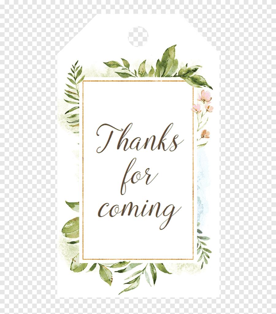 Tag de Agradecimento Pela presença