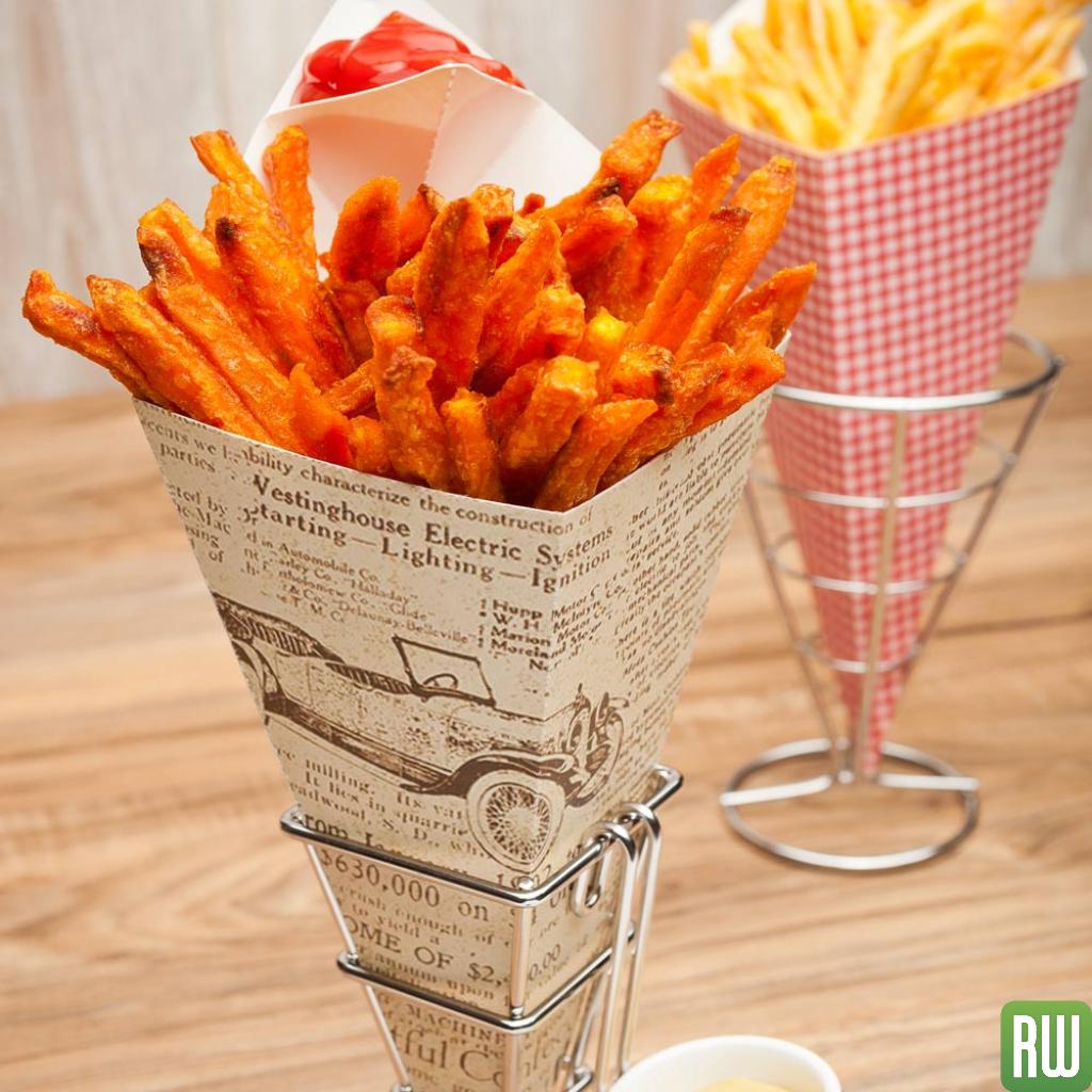 Como fazer Cone de papel Batata frita